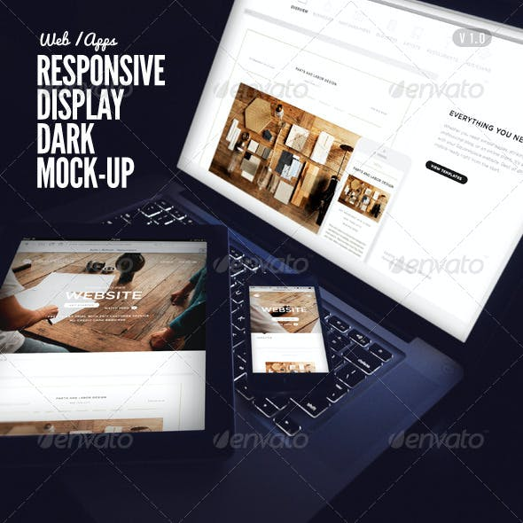Responsive Display Dark Mock-Up