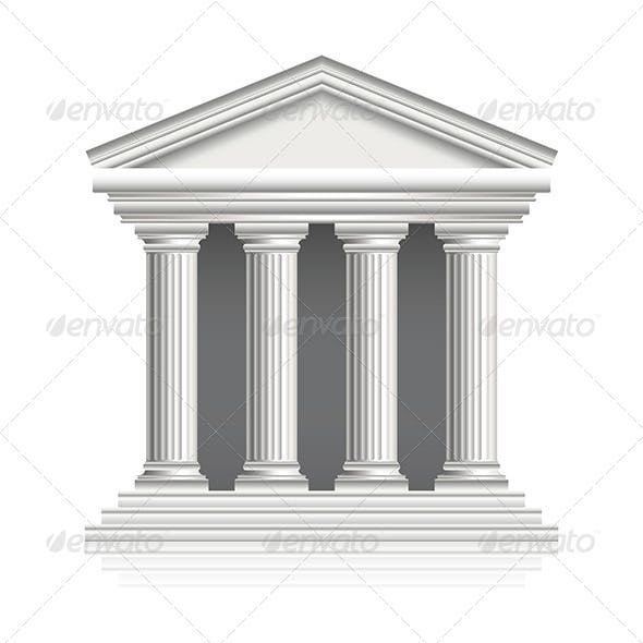 Greek Temple Illustration