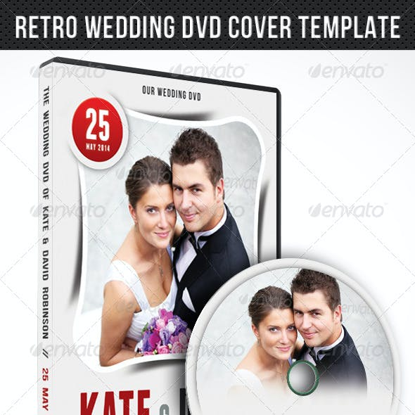 Wedding DVD Cover Template 02