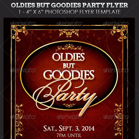 Oldies Goodies Party Flyer Template