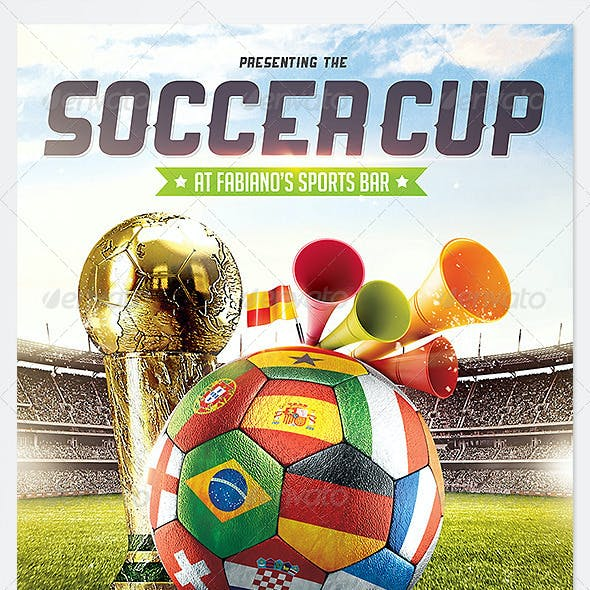 Brazil Soccer Cup 2014 Football flyer