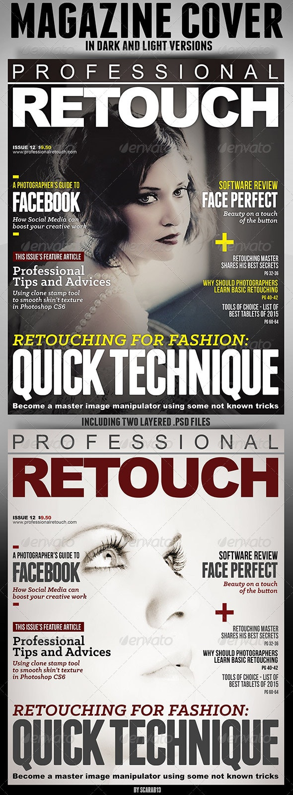Magazine Cover in Light and Dark Version - Magazines Print Templates