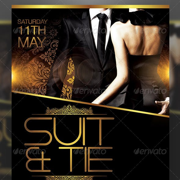 Suit and Tie Flyer Template