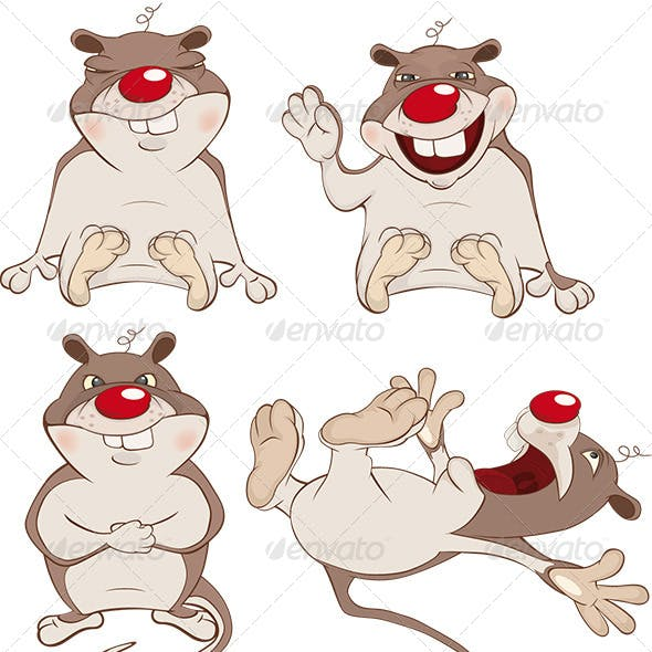 Set of Hamsters Cartoon