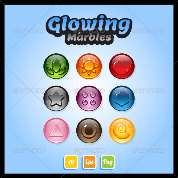 Game Asset - Glossy Marbles