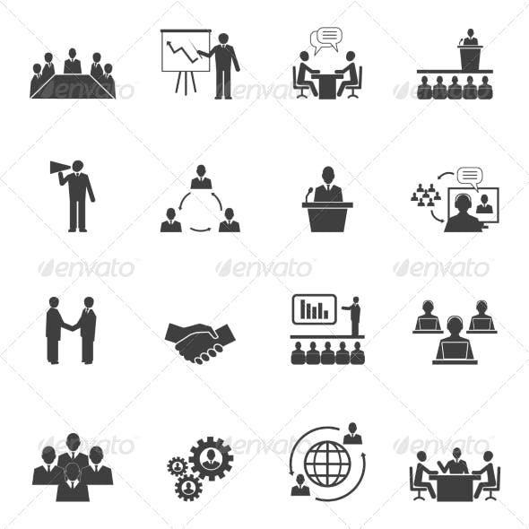 Meet People Online Icons
