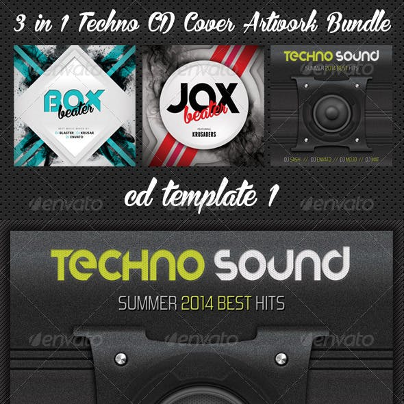 3 in 1 Techno CD Cover Artwork Bundle