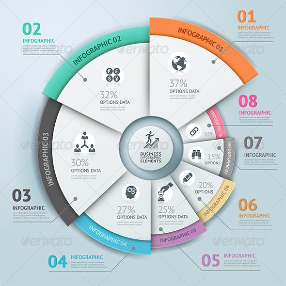 Business Infographic Circle Icon Template