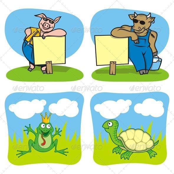 Cartoon mascots 01 - Animals Characters