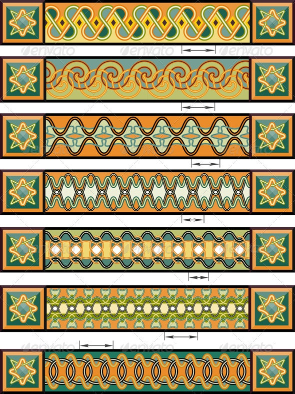 Elements of design in Celtic style - Borders Decorative