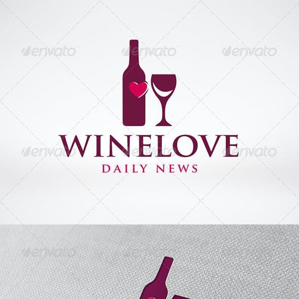 Love Wine Logo Template