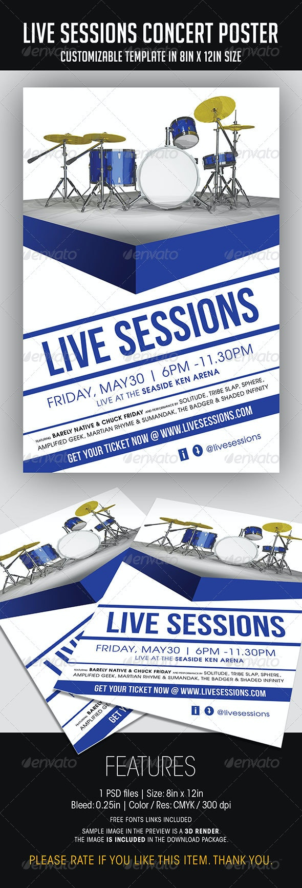 Live Session Concert Poster - Concerts Events