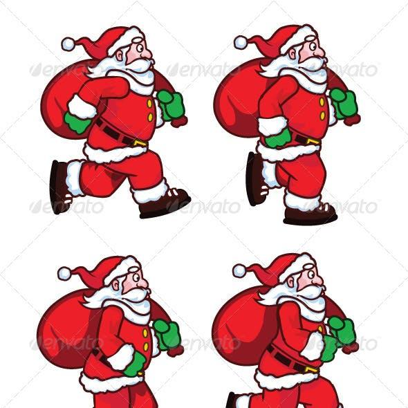 Running Santa Sprite