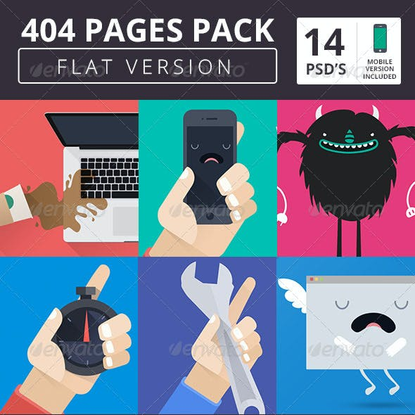 404 Pack Flat Style