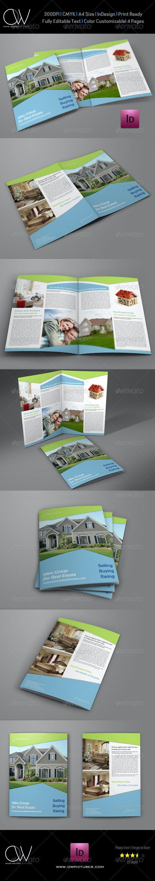 Real Estate Company Brochure Bi Fold Template Vol2 - Corporate Brochures