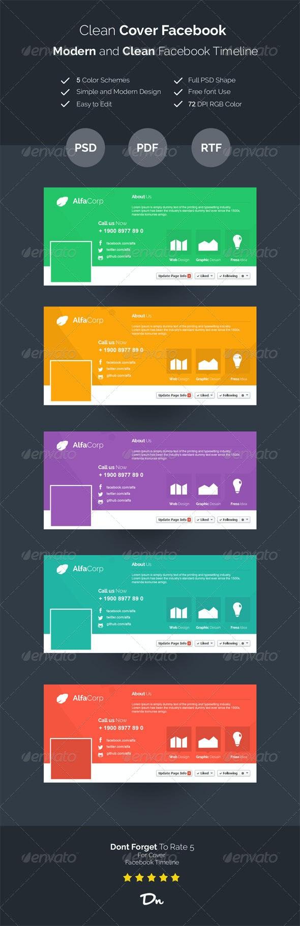 Modern Cover FacebookTimeline - Facebook Timeline Covers Social Media