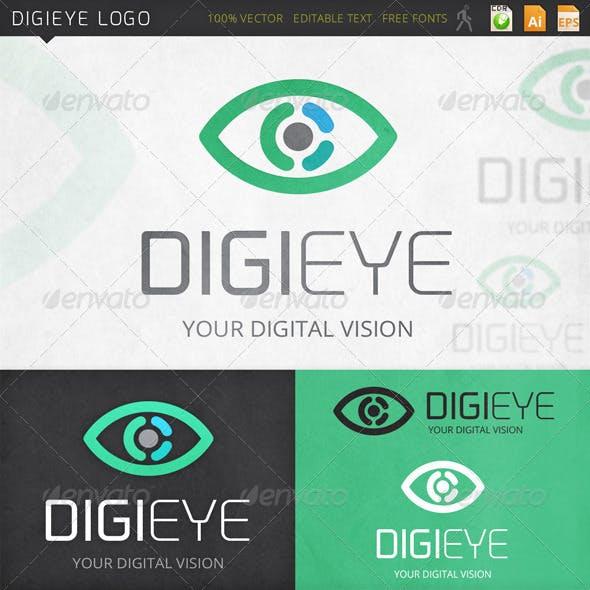 Digieye Eye Vision Logo template