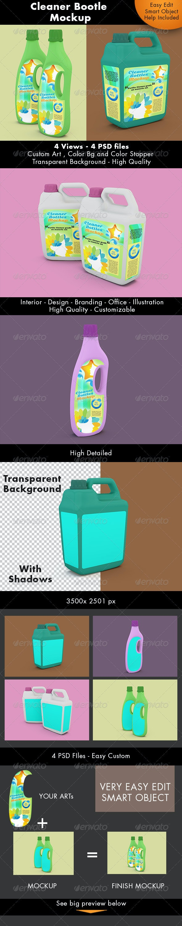 Cleaner Bottle Mockup - Miscellaneous Packaging