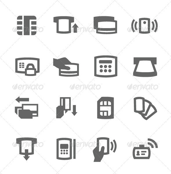 Cards Icons - Business Icons