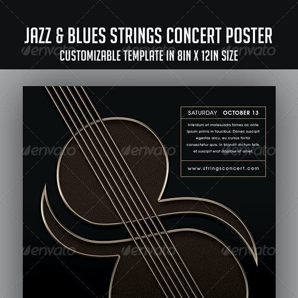 Jazz & Blues Strings Concert Poster