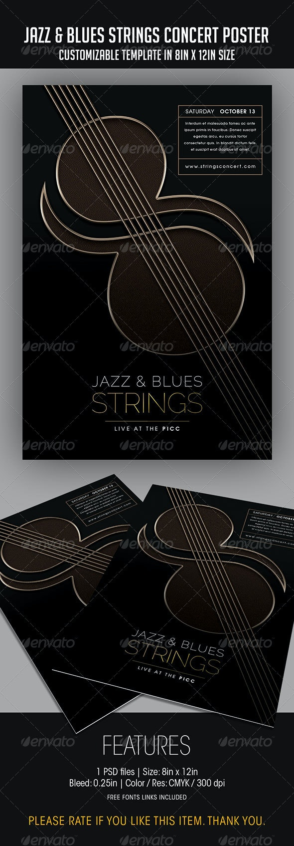 Jazz & Blues Strings Concert Poster - Concerts Events