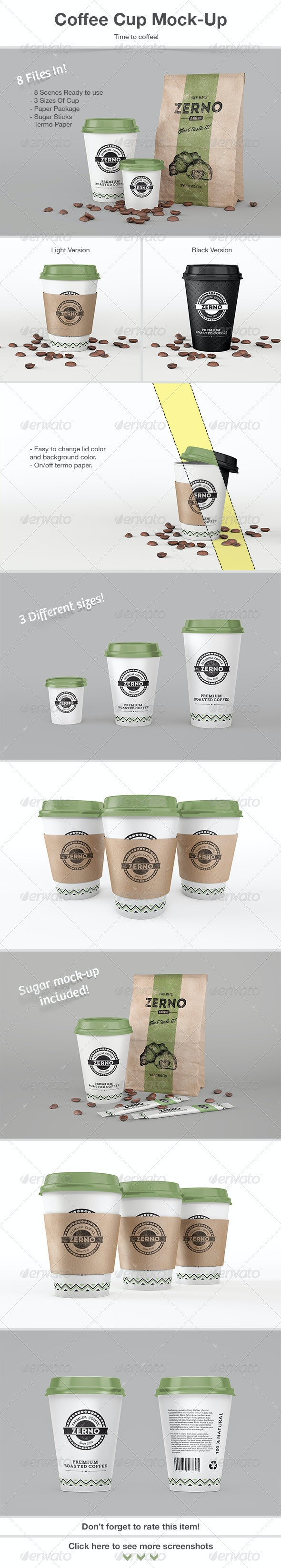 Coffee Cup Mock-Up - Product Mock-Ups Graphics