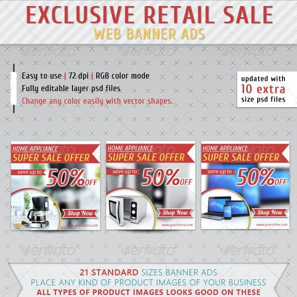 Retail Sale Web Banner Ads