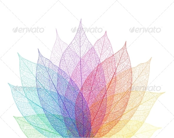Leaf Abstract Background - Backgrounds Decorative