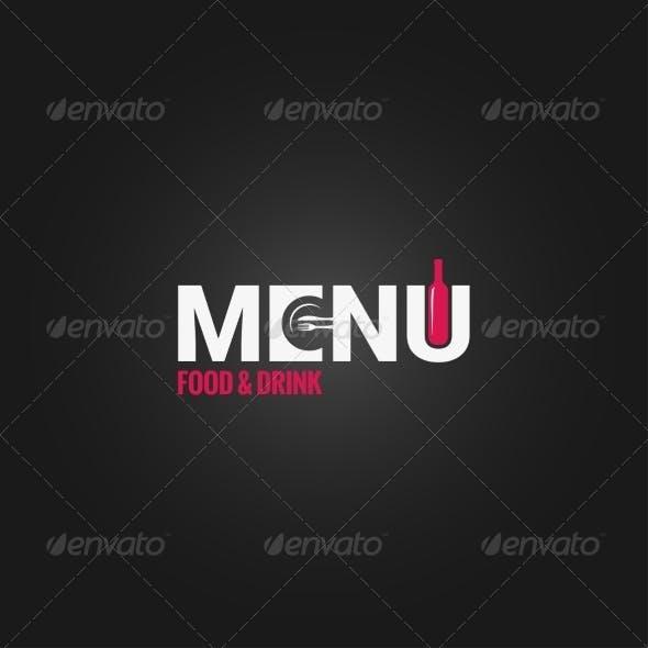 Restaurant Menu Wine Design Background
