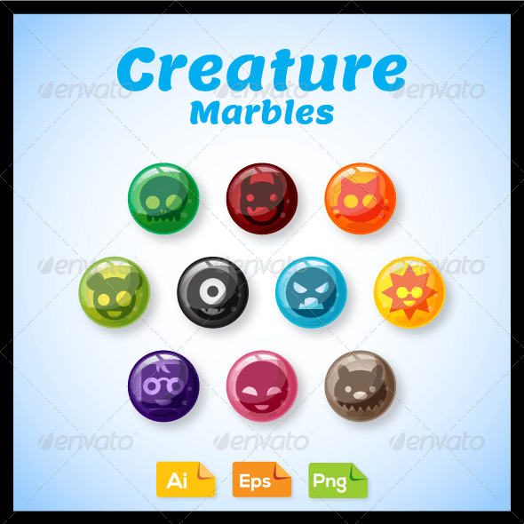 Game Asset - Creature Marbles
