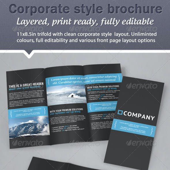 Corporate Business Style Trifold Brochure