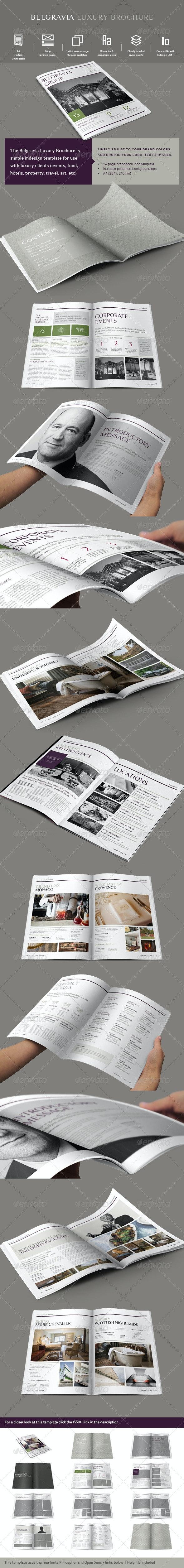 Luxury Brochure Template - Catalogs Brochures