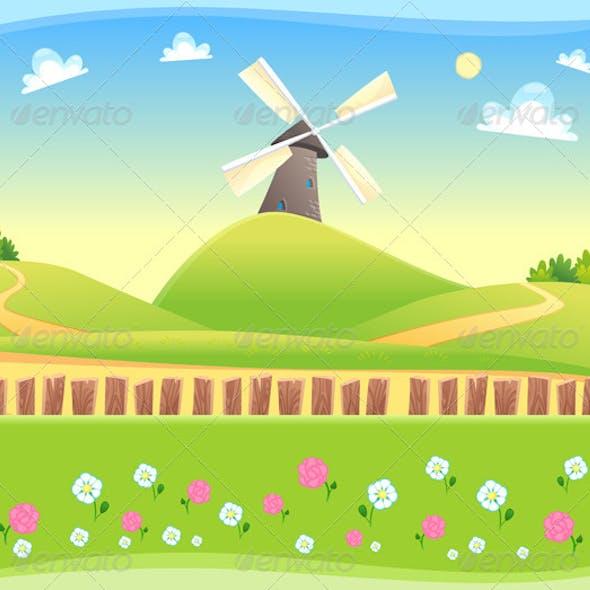 Windmill Background