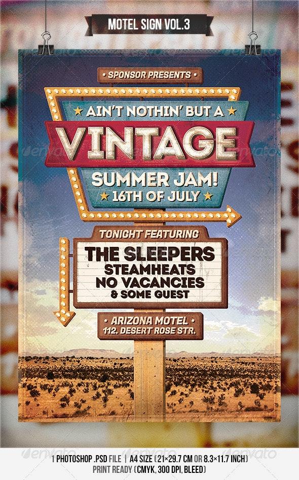 Motel Sign Vol.3 - Flyer & Poster - Concerts Events