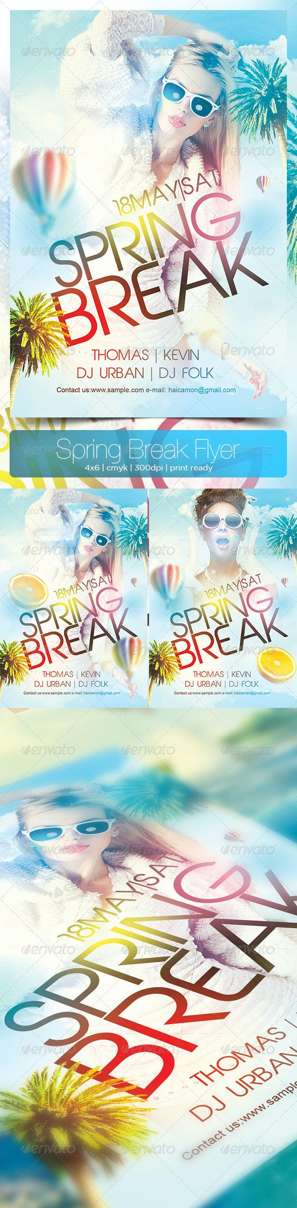 Spring Break Flyer - Flyers Print Templates