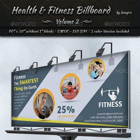 Health & Fitness Billboard Template | Volume 2