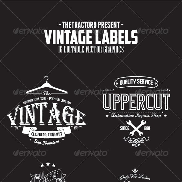 16 Vintage Labels and Badges