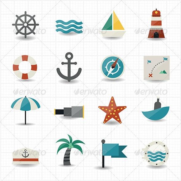 Nautical and Sea Icons - Seasonal Icons