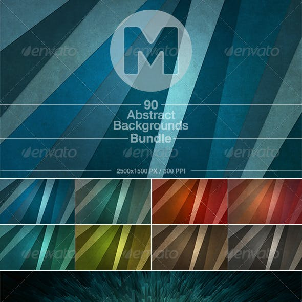90 Abstract Backgrounds Bundle