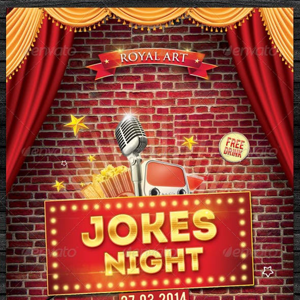 Jokes Night Flyer