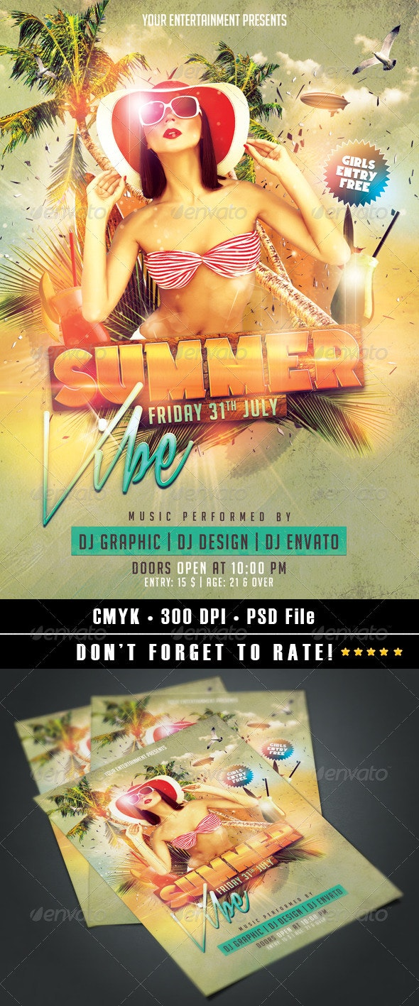 Summer Vibe Flyer - Clubs & Parties Events