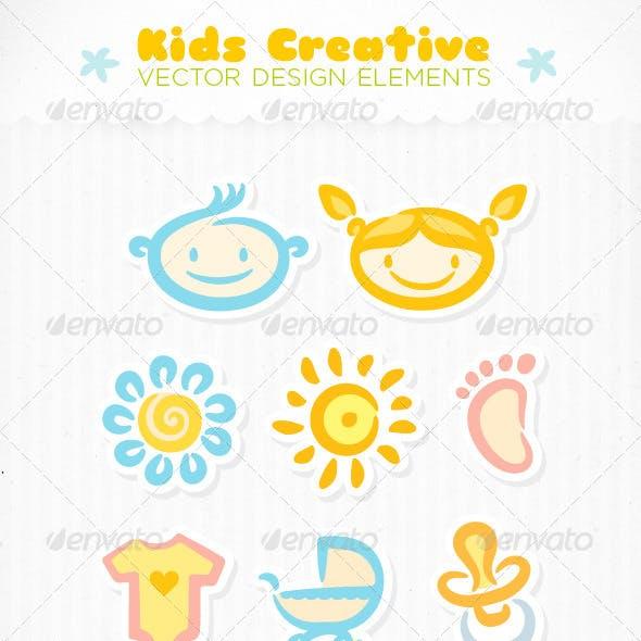 Kids Creative Vector Design Elements