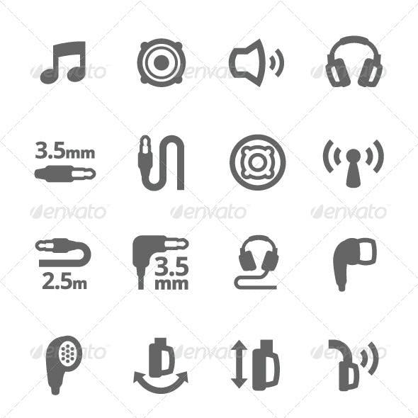 Headphones Features Icons