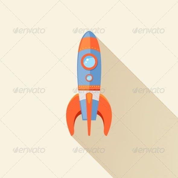 Rocket Long Shadow Icon