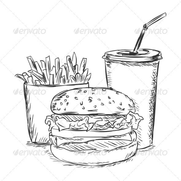 Fast Food Sketch