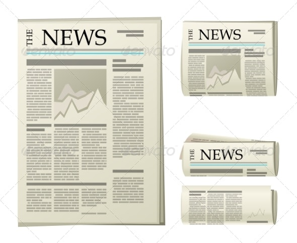 Newspaper Icons - Media Technology