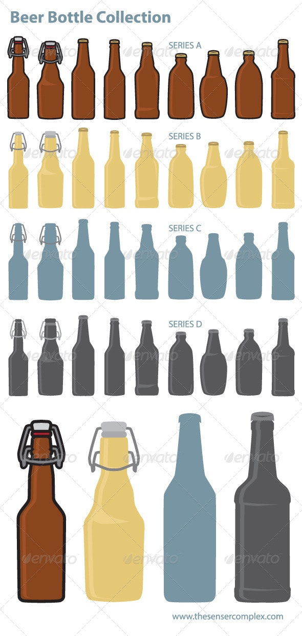 Beer Bottle Collection - Food Objects