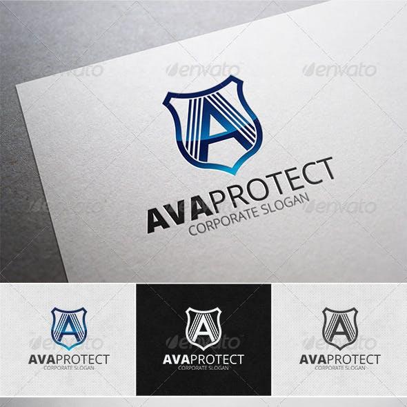 Ava Protect Logo Template