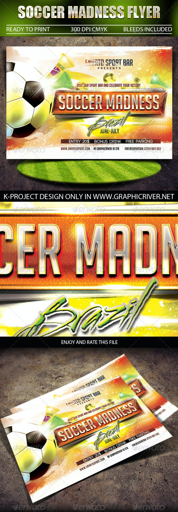 Soccer Madness Flyer - Sports Events