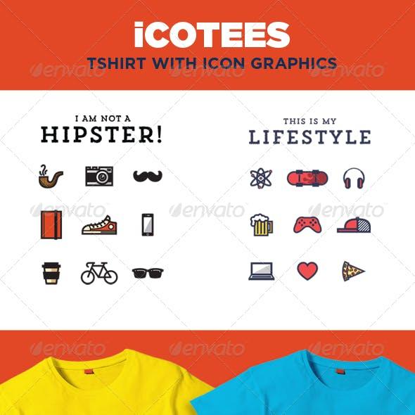 iCotees - Tshirt with Icon Graphics
